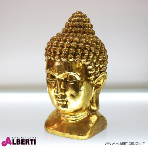 Testa Buddha oro 27x25x47cm