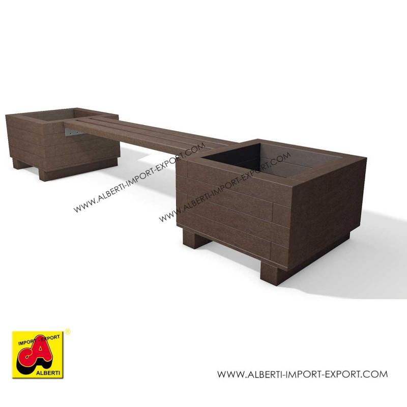 Panchina Iona modulare con fioriere 2 dimensioni disponibili