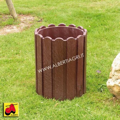 Cestino rifiuti in plastica riciclata Ø37x50 cm