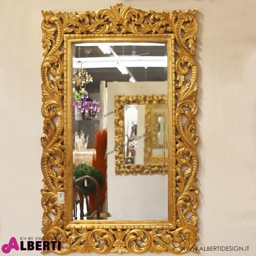 Specchio barocco foglia oro 100x4x150 cm