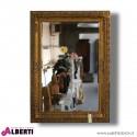 Specchio in legno color oro antico 78x6x107 cm