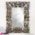 Specchio barocco argento decorazione a foglia 90x4x120cm