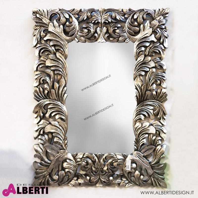 Specchio Foglie silver 90x120cm