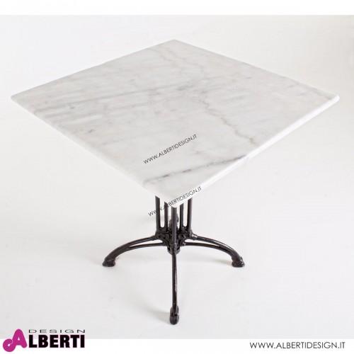 Tavolo Loren piano marmo 70x70H71