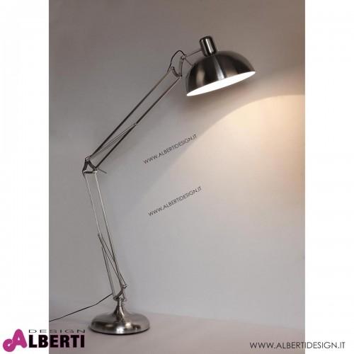 Lampada Piantana in acciaio satinato D60xH180