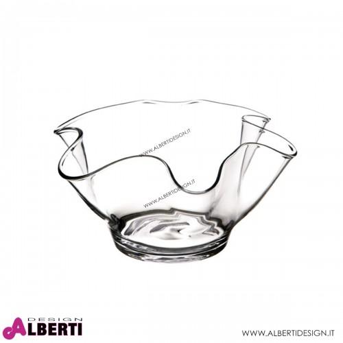 Vaso smerlato in vetro H14,5 D28 cm