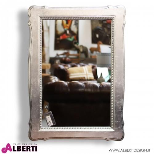 Specchio barocco con foglia argento 74x5x99 cm
