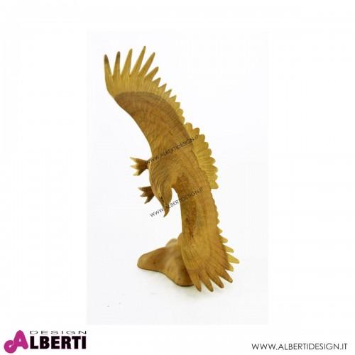 Aquila in volo legno 25xH50 cm