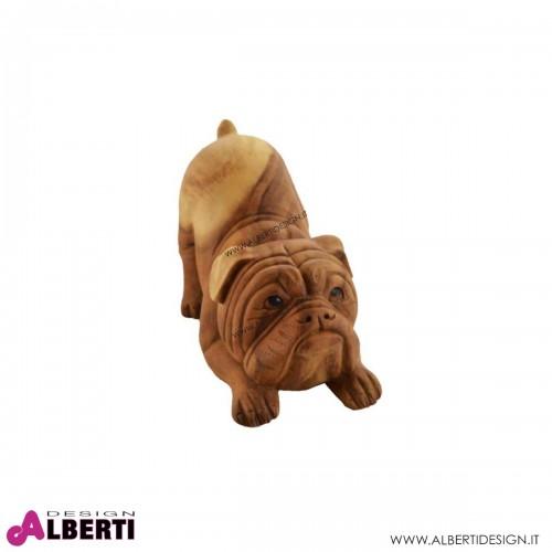 Bulldog in legno 20xH30cm