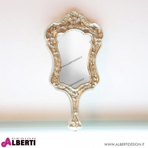 Specchiera finitura argento L19xP3xH38cm