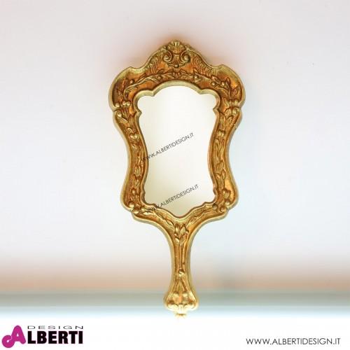 Specchiera con finiture oro 18x3xH37 cm