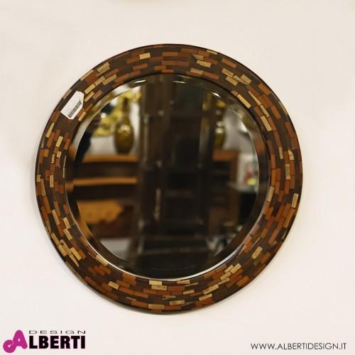 Specchio cocco rotondo D64x3 cm