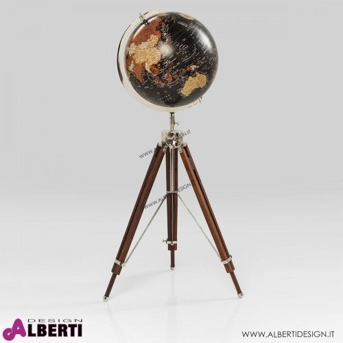 Mappamondo nero 61x61x141 cm