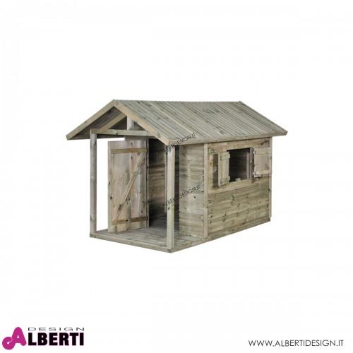 Casetta Oliver in legno impregnato 243x150xH160 cm