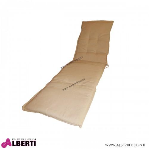 Cuscino per lettino con volant ecru 190x55 mm