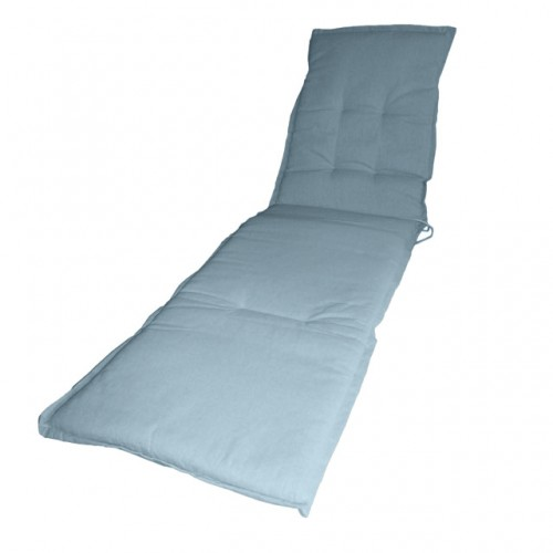 Cuscino per lettino con volant grigio 190x55 cm