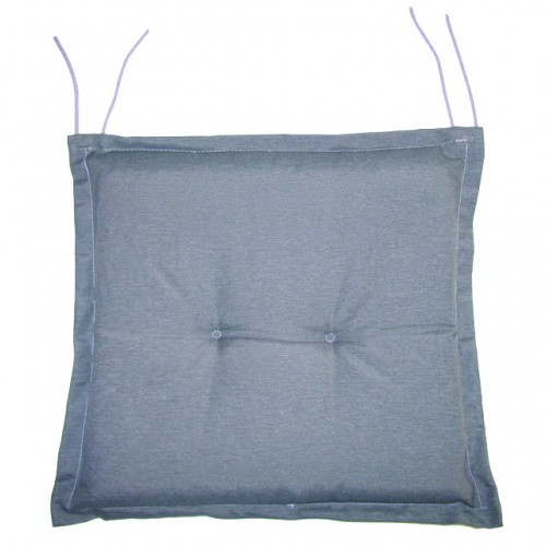 Cuscino per sedia con volant grigio 40x40x5