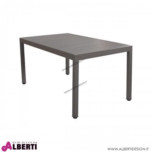 Tavolo Milo in alluminio per esterno color talpa 150x90x74 cm