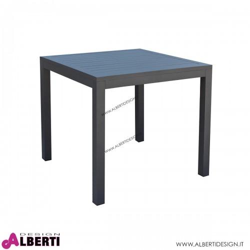 Tavolo Cuba per esterno color antracite 80x80x74h cm