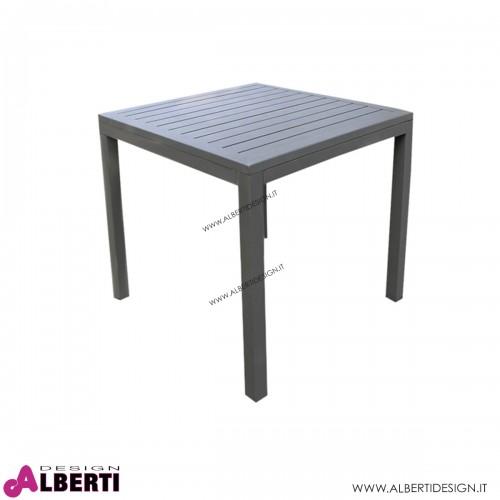 Tavolo Cuba per esterno color talpa 80x80x74h cm