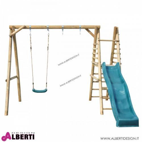 Altalena con scivolo Apart Plus7 per bambini 300x340xH227 cm