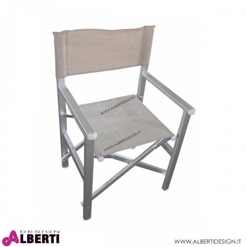 Sedia regista Siena textilene beige 55x46x45/88 cm