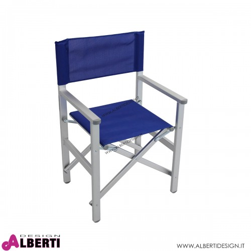 Poltrona da regista textilene blu 55x46x45/88 cm