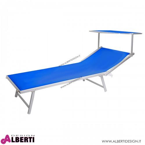 Lettino XXL blu 210x97x41 cm