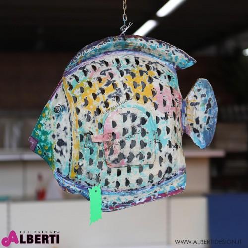 Pesce colorato in ferro 41x9xh40 cm