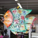 Pesce in ferro colorato 110x25xh150 cm