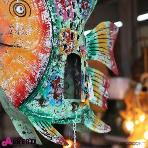 Pesce in ferro colorato 140x80xh20 cm