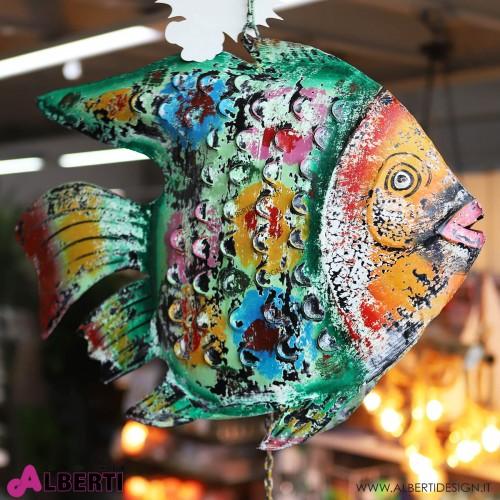 Pesce in ferro colorato 100x65xh15 cm
