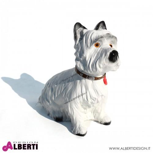 Cane terrier H33 cm in vetroresina