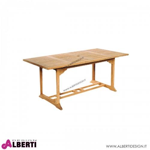 Tavolo rettangolare per esterno con buco per obrellone 180X90X74H cm