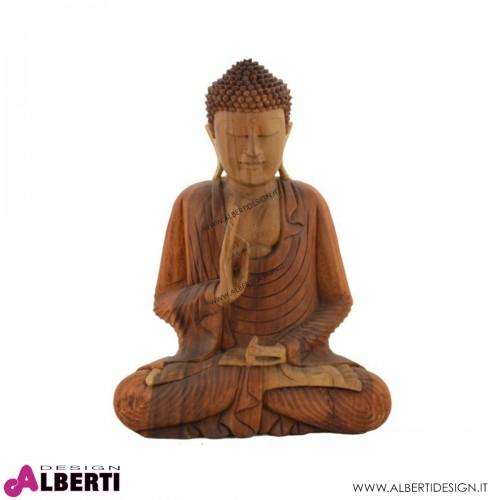 Buddha in legno 35x18x50h cm