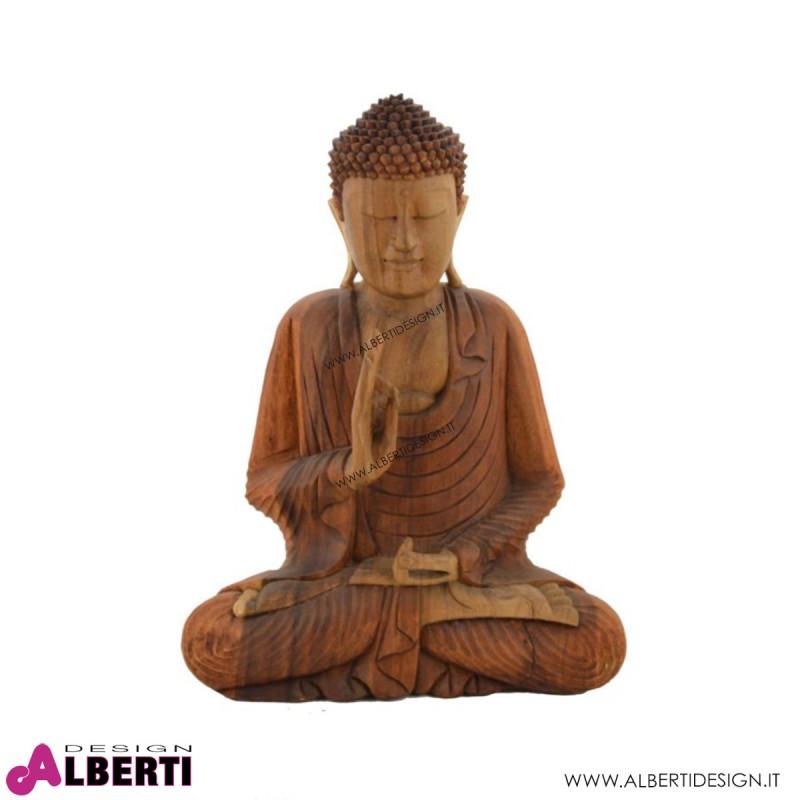 Buddha legno bicolor 35x18x50h cm