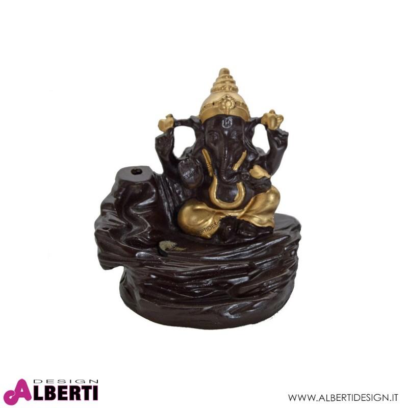 Fontana di fumo Ganesh oro 10x9,5h cm