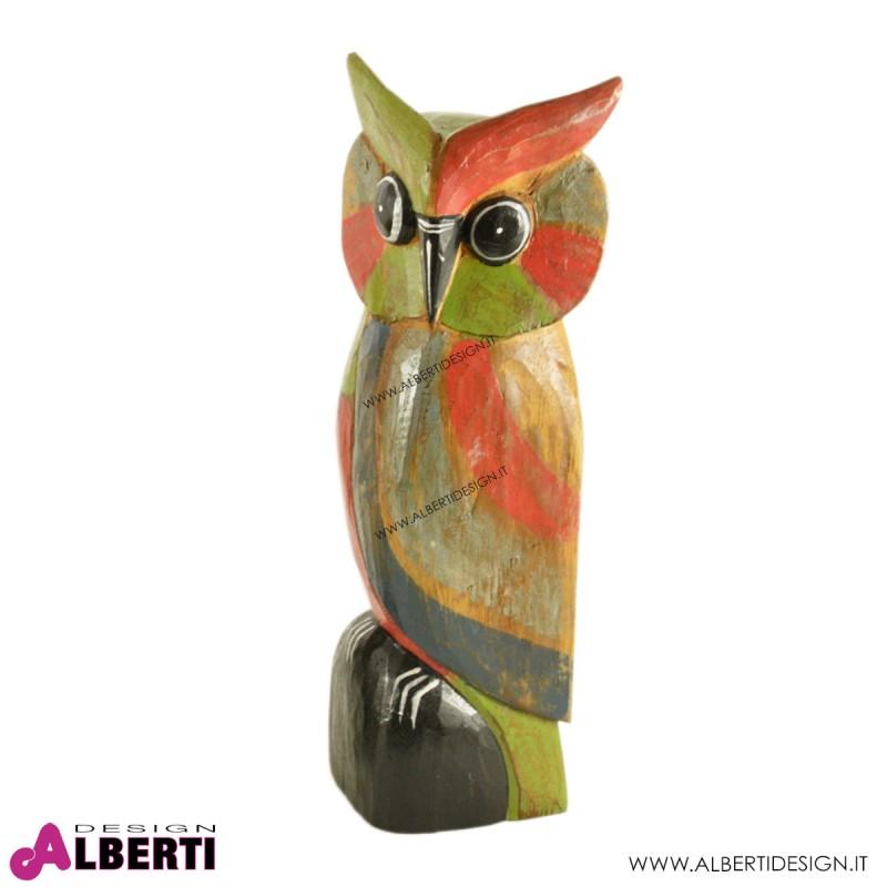 Gufetto legno multicolor h.40cm