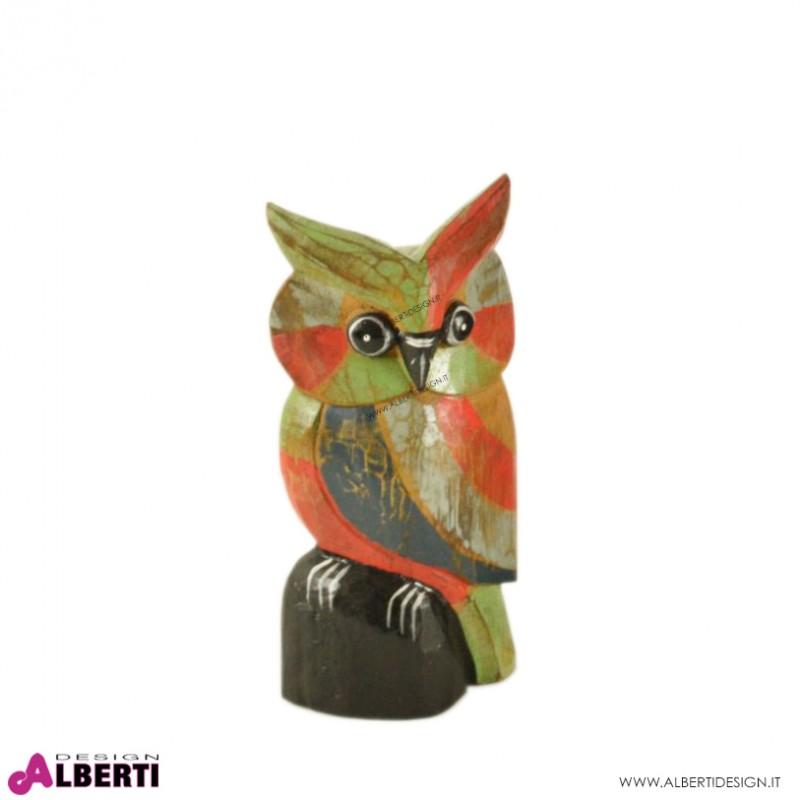 Gufetto in legno multicolor h.20 cm