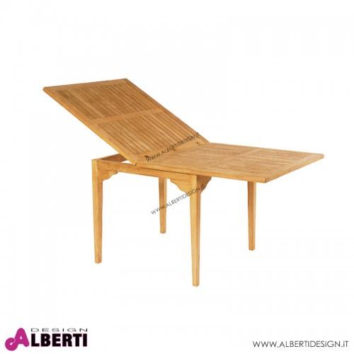 Tavolo Horta allungabile in teak 90-180x90H74 cm