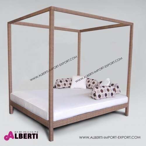 Letto DANTE completo, color mogano L210xP170xH205