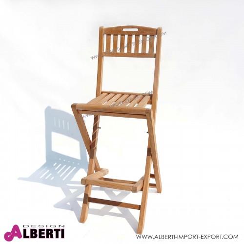 Sedia per banco bar chiudibile, 46x45xh113cm