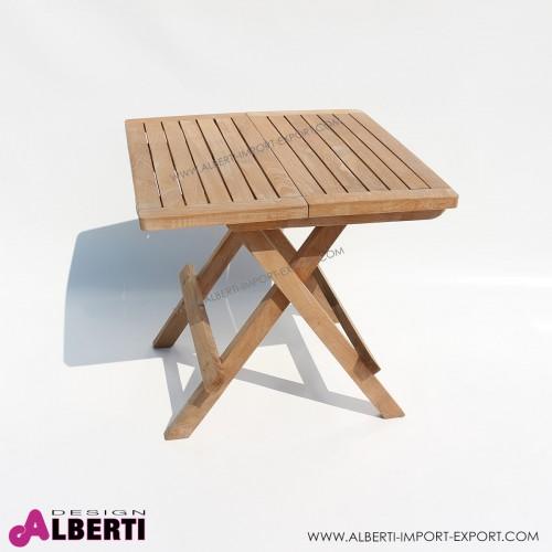 Tavolino picnic in teak pieghevole 55x50