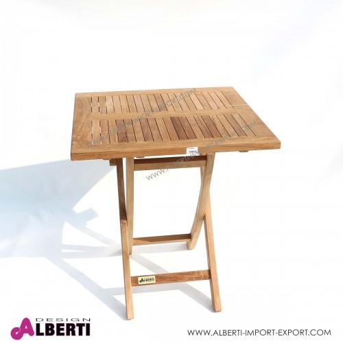 Tavolo quadrato pieghevole, 70x70x75 cm