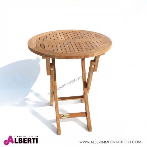 Tavolo Da Giardino Rotondo Pieghevole.Tavolo Rotondo Piegh D70x75cm