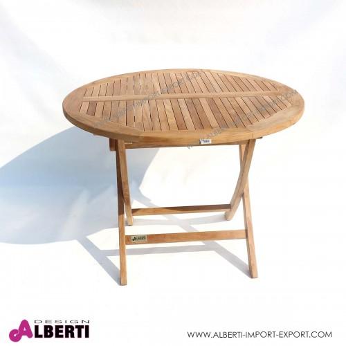 Tavolo rotondo pieghevole, diametro 90 x h 75 cm
