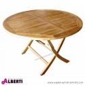 Tavolo rotondo pieghevole, diametro 120 x h 75 cm