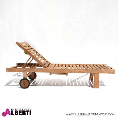961 0205H_b Lettino con ruote 209x65xh29 cm