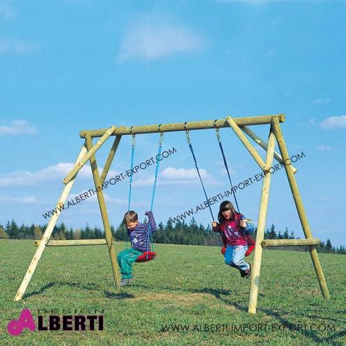 Altalena Max per bambini da giardino  in legno 250x220x225 cm