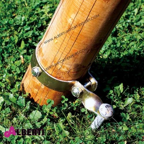 Morsetto con punteruolo per fissaggio altalena. D10cm